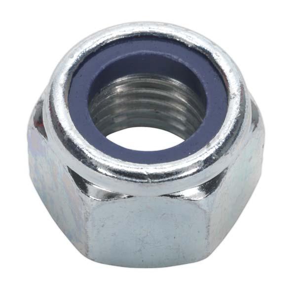 Sealey - NLN16  Nylon Lock Nut M16 Zinc DIN 982 Pack of 25