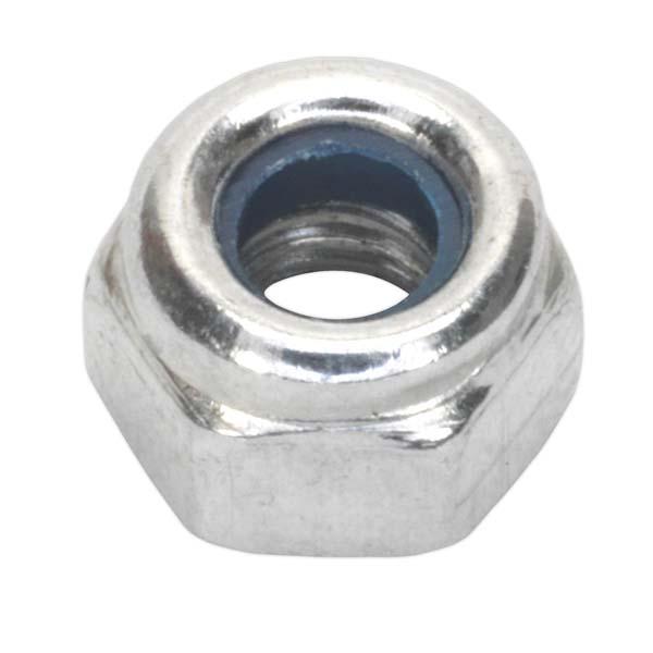 Sealey - NLN4  Nylon Lock Nut M4 Zinc DIN 982 Pack of 100