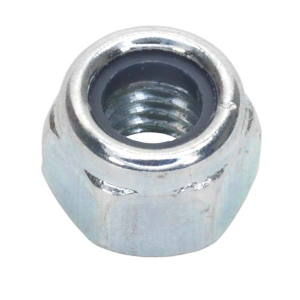 Sealey - NLN6  Nylon Lock Nut M6 Zinc DIN 982 Pack of 100