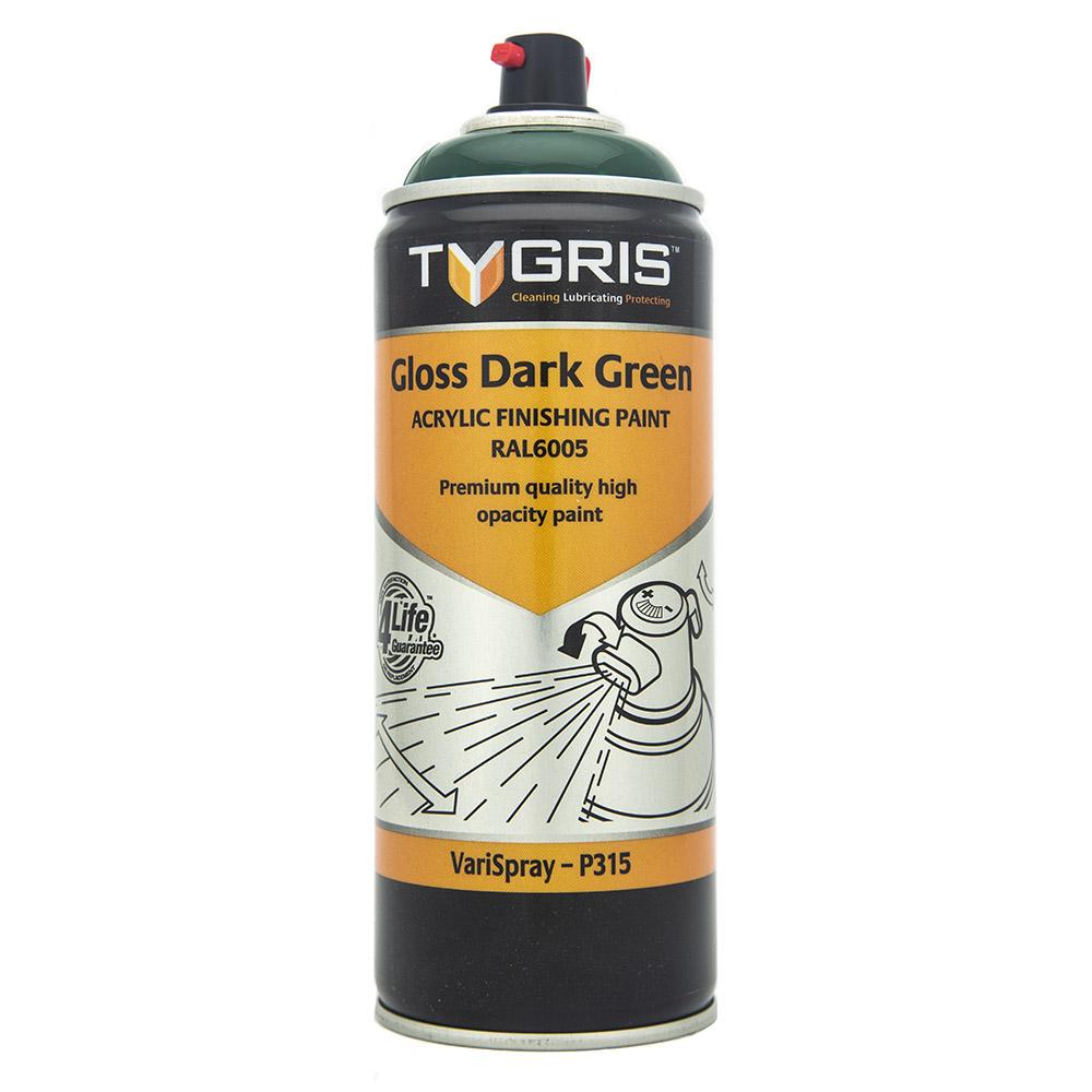 TYGRIS Dark Green Paint - RAL6005 400ml Aerosol  P315