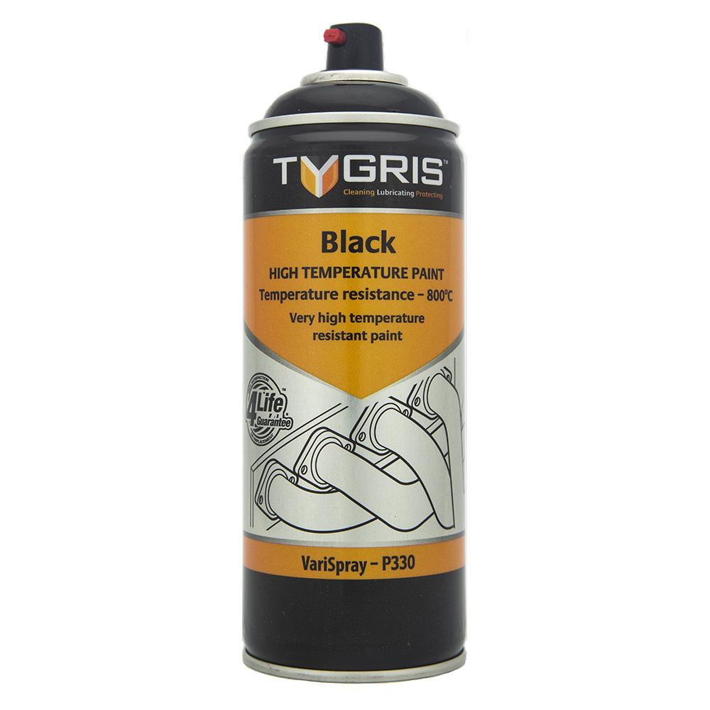 TYGRIS  Black VHT Paint - Vari-Spray 400ml Aerosol  P330