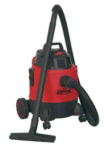 Sealey - PC200  Vacuum Cleaner Wet & Dry 20ltr 1250W/230V