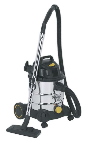 Sealey - PC200SD110V  Vacuum Cleaner Industrial Wet & Dry 20ltr 1250W/110V Stainless Drum