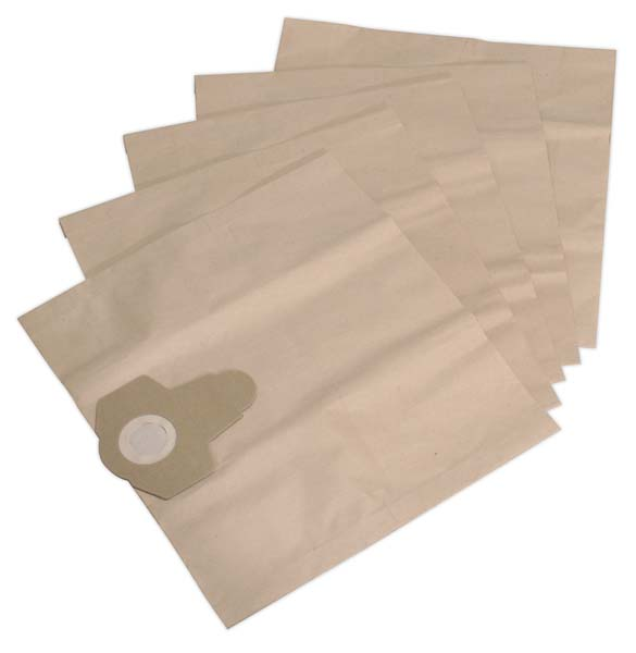 Sealey - PC300PB5  Dust Collection Bag for PC300SD, PC300SDAUTO Pack of 5