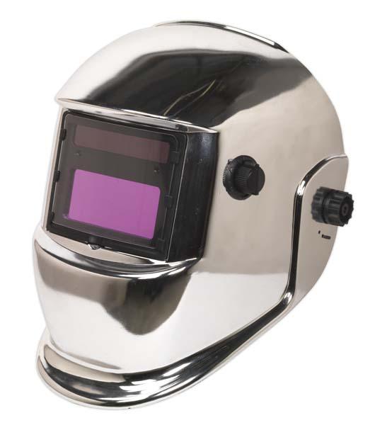 Sealey - PWH598C  Welding Helmet Auto Darkening Shade 9-13 - Chrome