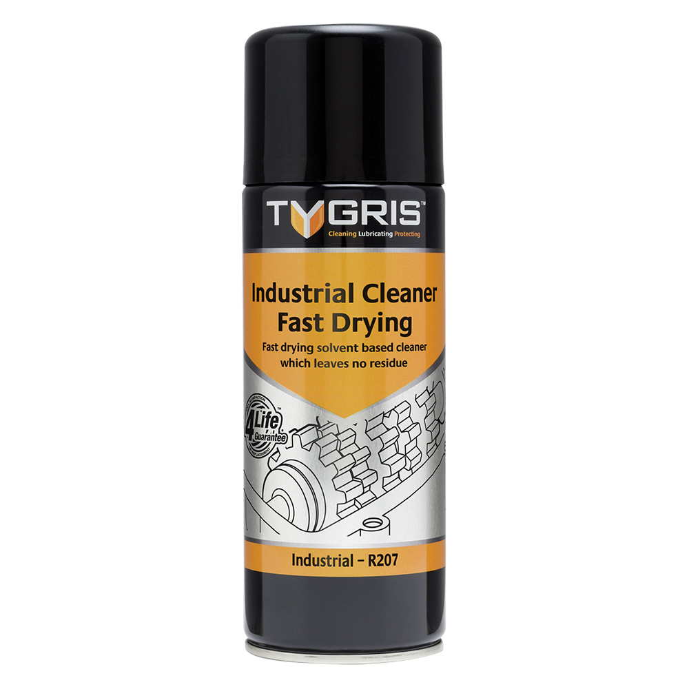 TYGRIS  R207  Industrial Cleaner - Fast Drying  400ml Aerosol