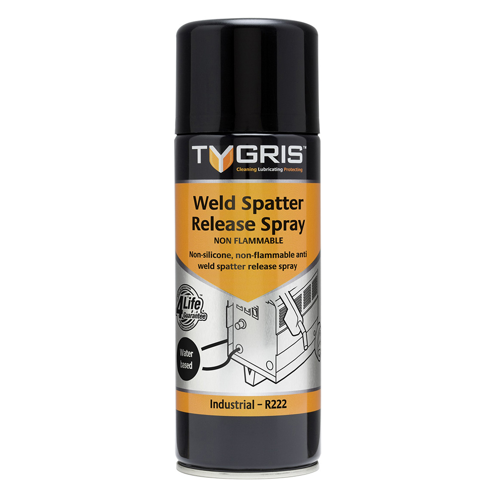 TYGRIS  R222  Weld Spatter Release Spray (Water Based)  400ml Aerosol