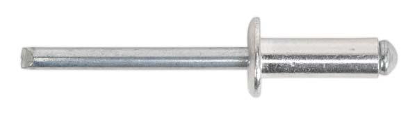 Sealey - RB6412S  Aluminium Blind Rivet Standard Flange 6.4 x 12mm Pack of 200