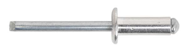 Sealey - RB6419S5  Aluminium Blind Rivet Standard Flange 6.4 x 19.5mm Pack of 200
