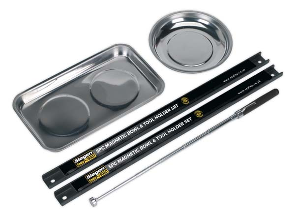 Sealey - S0773  Magnetic Bowl & Tool Holder Set 5pc