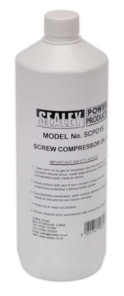 Sealey - SCPO1S  Screw Compressor Oil 1ltr