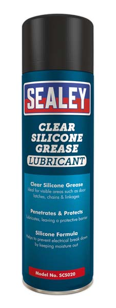 Sealey - SCS020  Clear Silicon Grease Lubricant 500ml Pack of 6