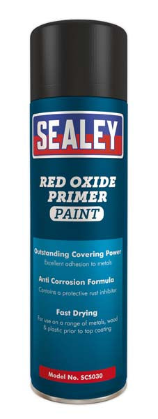 Sealey - SCS030  Red Oxide Primer Paint 500ml Pack of 6
