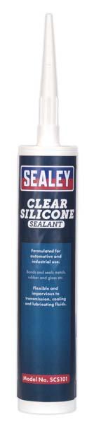 Sealey - SCS101  RTV Clear Silicone Sealant 300ml