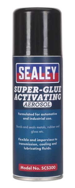 Sealey - SCS300  Super Glue Activating Aerosol 200ml Pack of 6