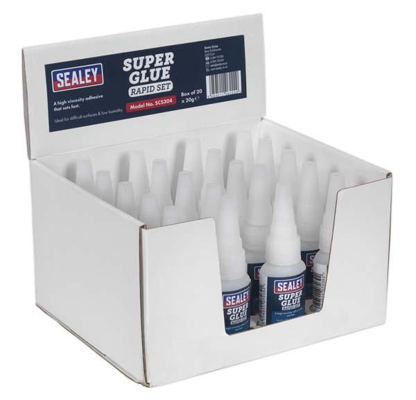 Sealey - SCS304  Super Glue Rapid Set 20g Pack of 20