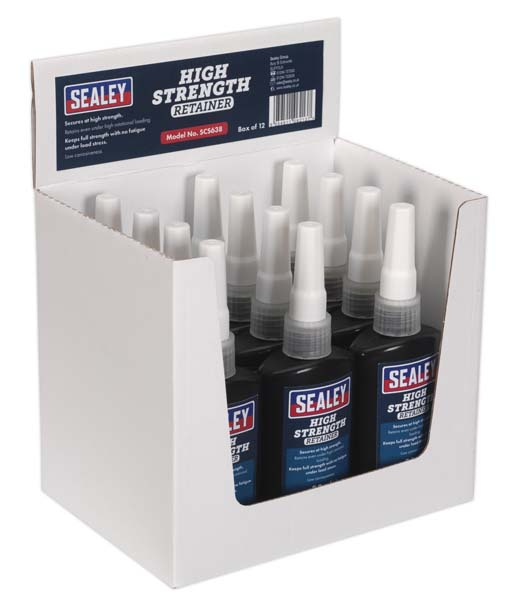 Sealey - SCS638  High Strength Retainer 50ml Pack of 12