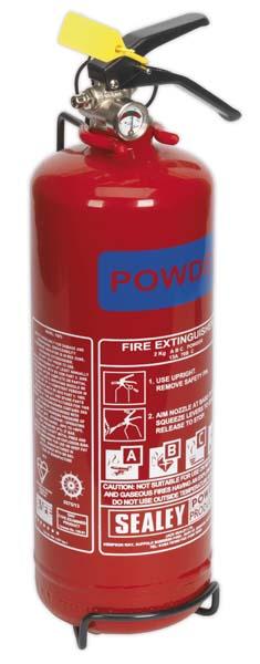 Sealey - SDPE02  Fire Extinguisher 2kg Dry Powder