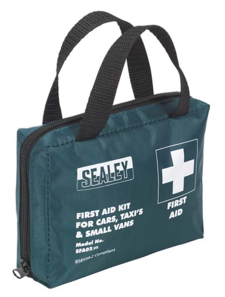 Sealey - SFA02  First Aid Kit Medium for Cars, Taxis & Small Vans - BS 8599-2 Compliant