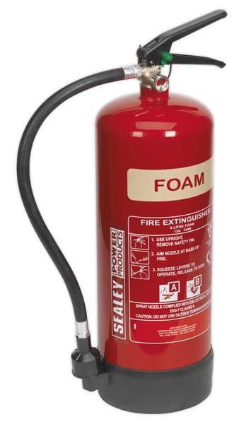 Sealey - SFE06  Fire Extinguisher 6ltr Foam