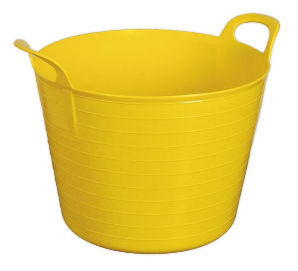 Sealey - SFT40Y  Heavy-Duty Flexi Tub 40ltr - Yellow