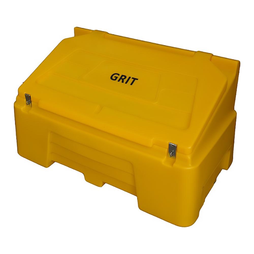 TYGRIS Static Grit Bin - 400 Ltr Yellow. Litre SGB400