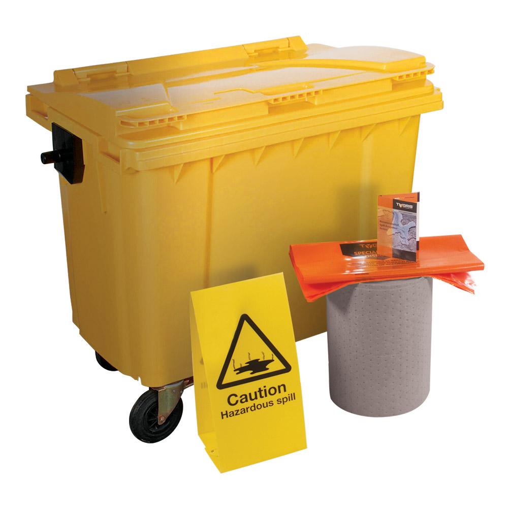 TYGRIS 4-Wheeled Maintenance Spill Kit - 1000 Litre SK1000(M)