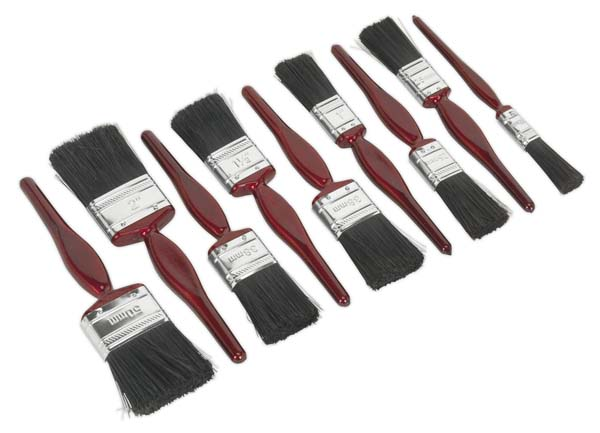 Sealey - SPBS9  Pure Bristle Paint Brush Set 9pc