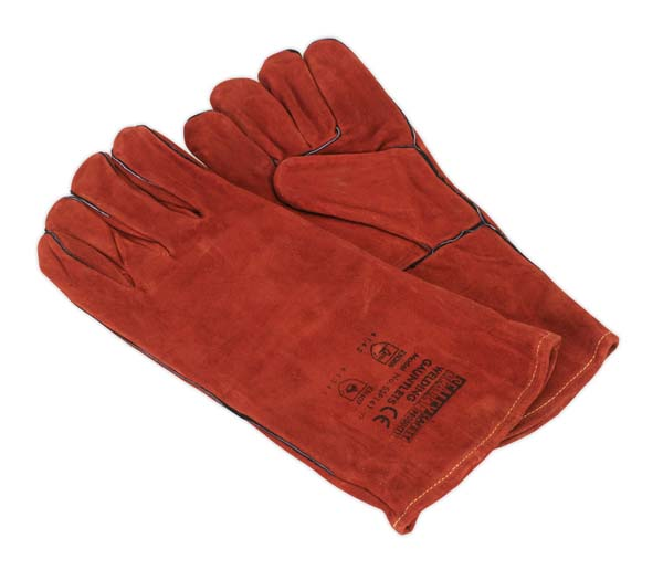 Sealey - SSP141  Leather Welding Gauntlets Lined Pair