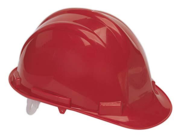 Sealey - SSP17  Safety Helmet Red BS EN 397