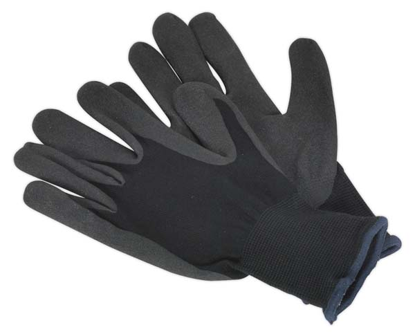 Sealey - SSP62LD  Nitrile Foam Palm Glove - Large Pack of 12 Pairs