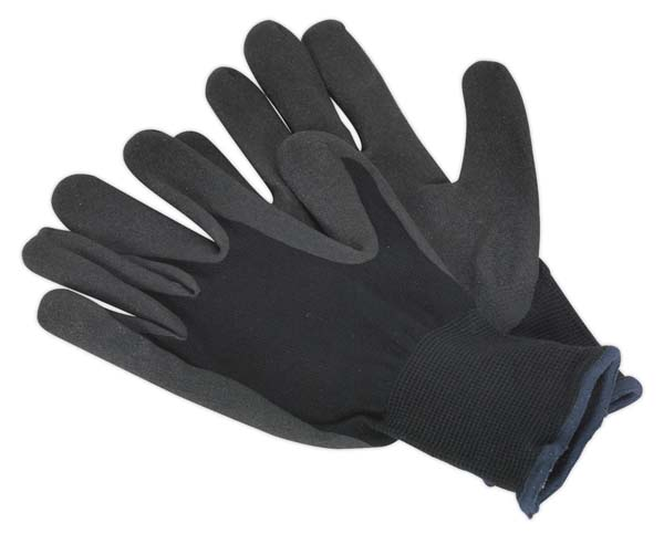 Sealey - SSP62XLD  Nitrile Foam Palm Gloves - Extra Large Pack of 12 Pairs