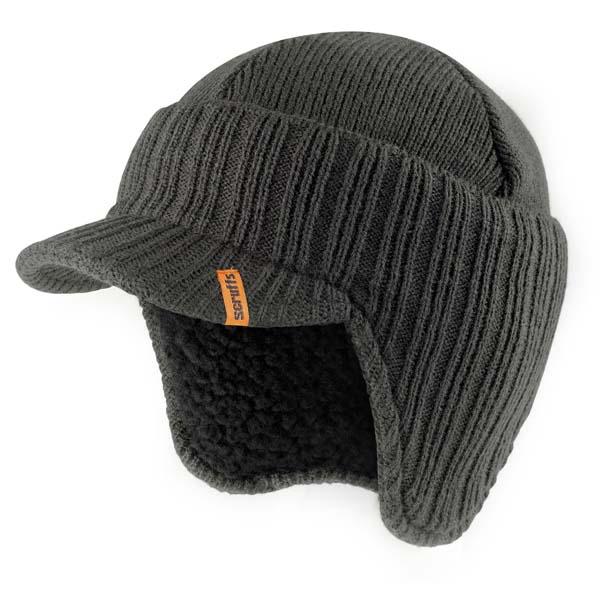 Scruffs Peaked Beanie Hat Graphite