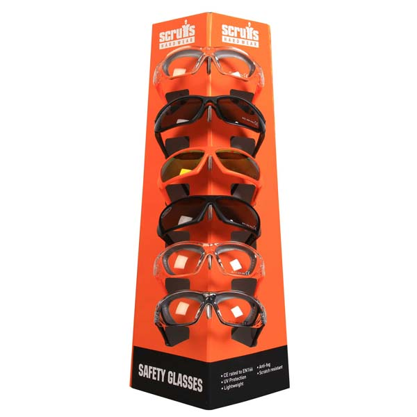 Scruffs Safety Glasses POS