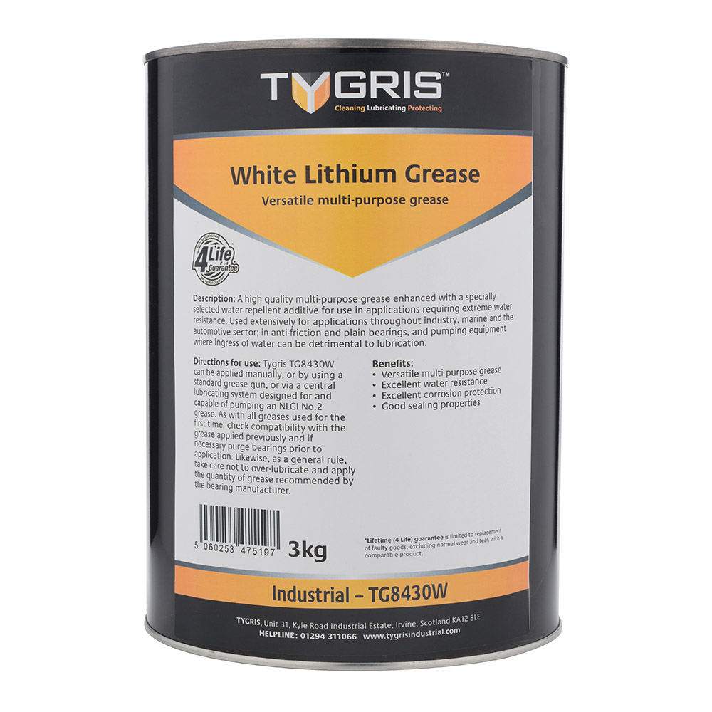 TYGRIS White Lithium Grease - 3 Kg TG8430W