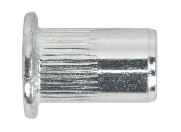 Sealey - TISM8  Threaded Insert (Rivet Nut ) M8 Splined Pack of 50