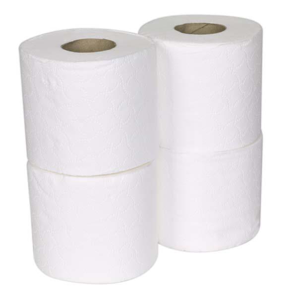 Sealey - TOL36  Toilet Roll Plain White Pack of 4 x 9 (36 Rolls)