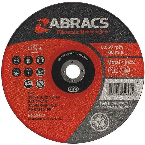 Abracs  50mm x 1.0mm x 10mm PHOENIX II METAL CUTTING DISCS