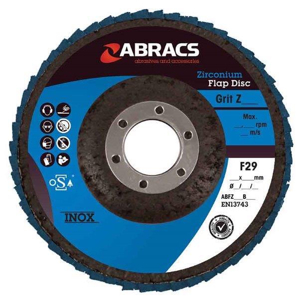 Abracs Flap Disc 100mm x 40g ZIRCONIUM