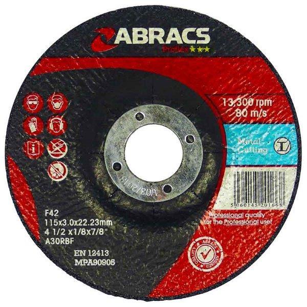 Abracs  PROFLEX 100mm x 3mm x 16mm DPC METAL CUTTING DISCS