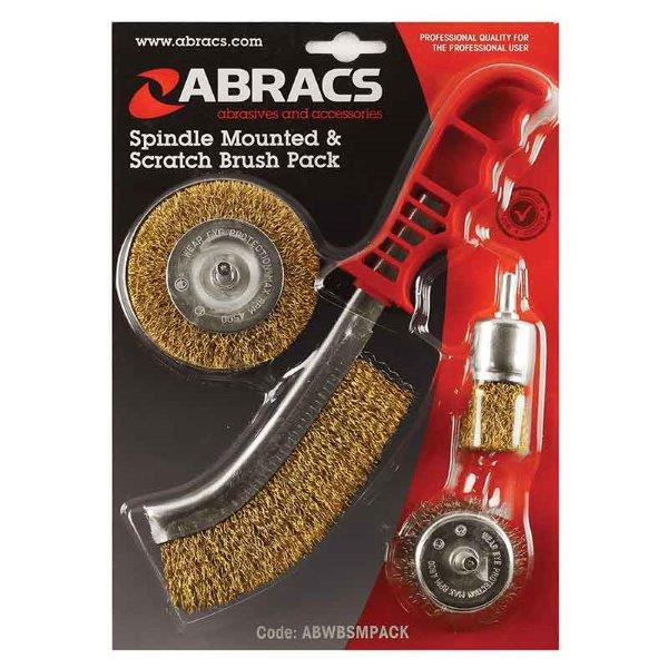 Abracs  SPINDLE MOUNTED & SCRATCH BRUSH PACK