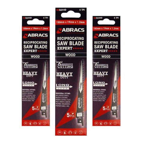 Abracs   Recip Saw Blade 240x19x1.5mm - Wood (5)