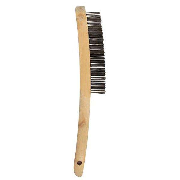 Abracs  2 ROW WOODEN HANDLED BRUSH